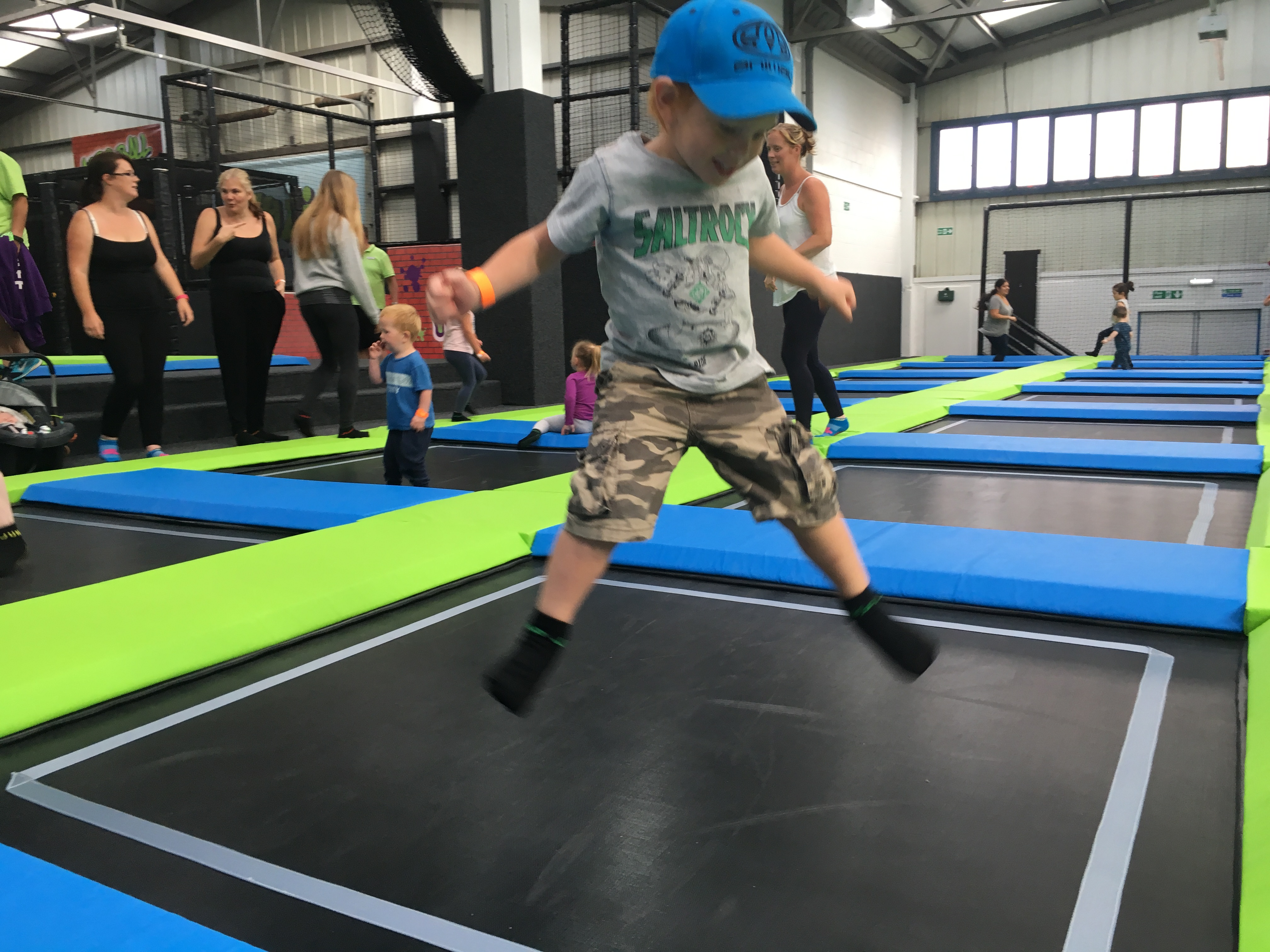 Toddler bouncing at Sky High Trampoline Park in Sussex