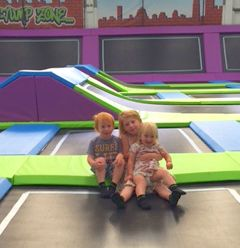 Toddlers bouncing