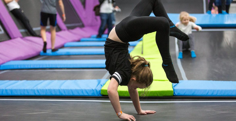 Gymnastics at at Sky High Trampoline Park