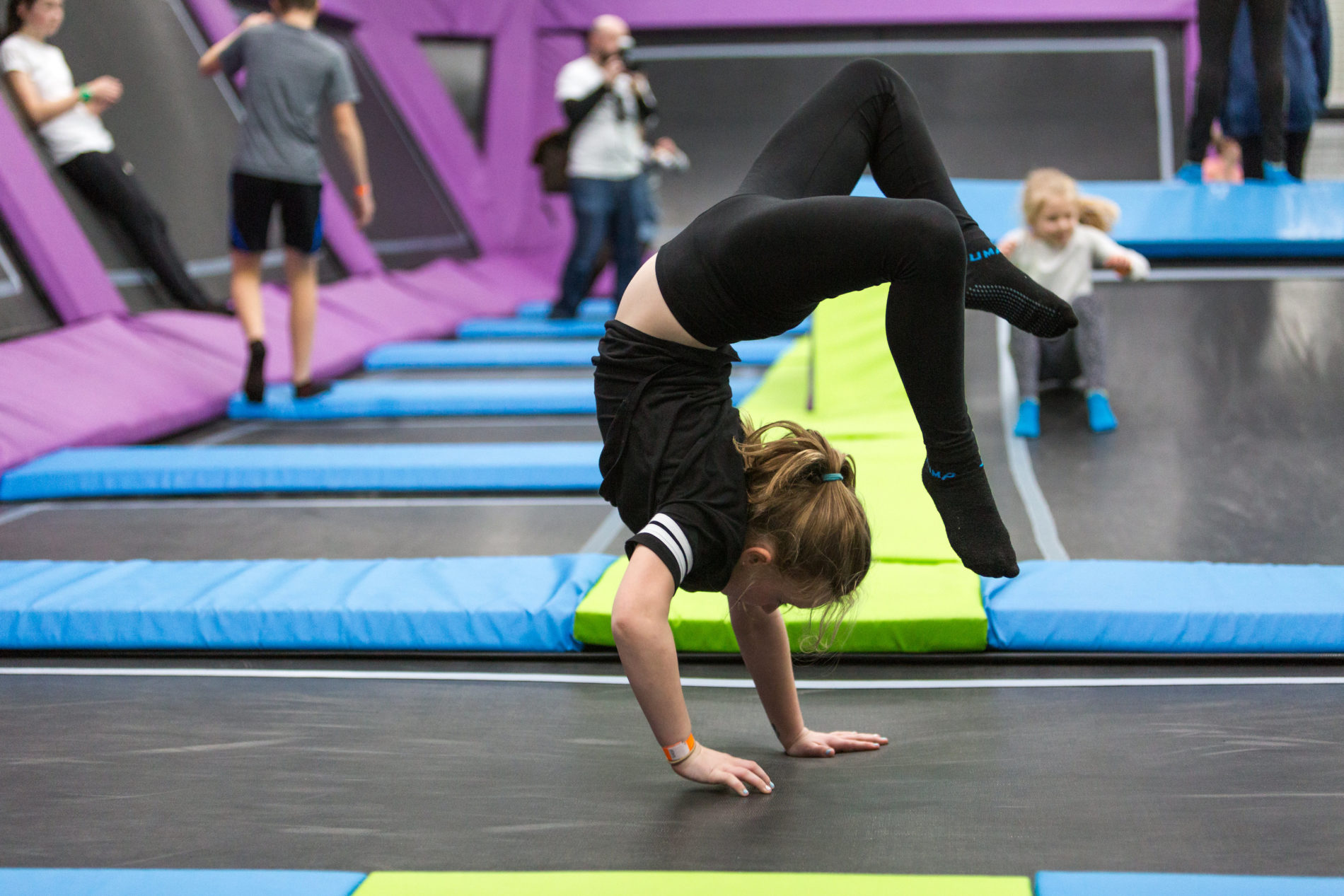 Gymnastics at at Sky High Trampoline Park