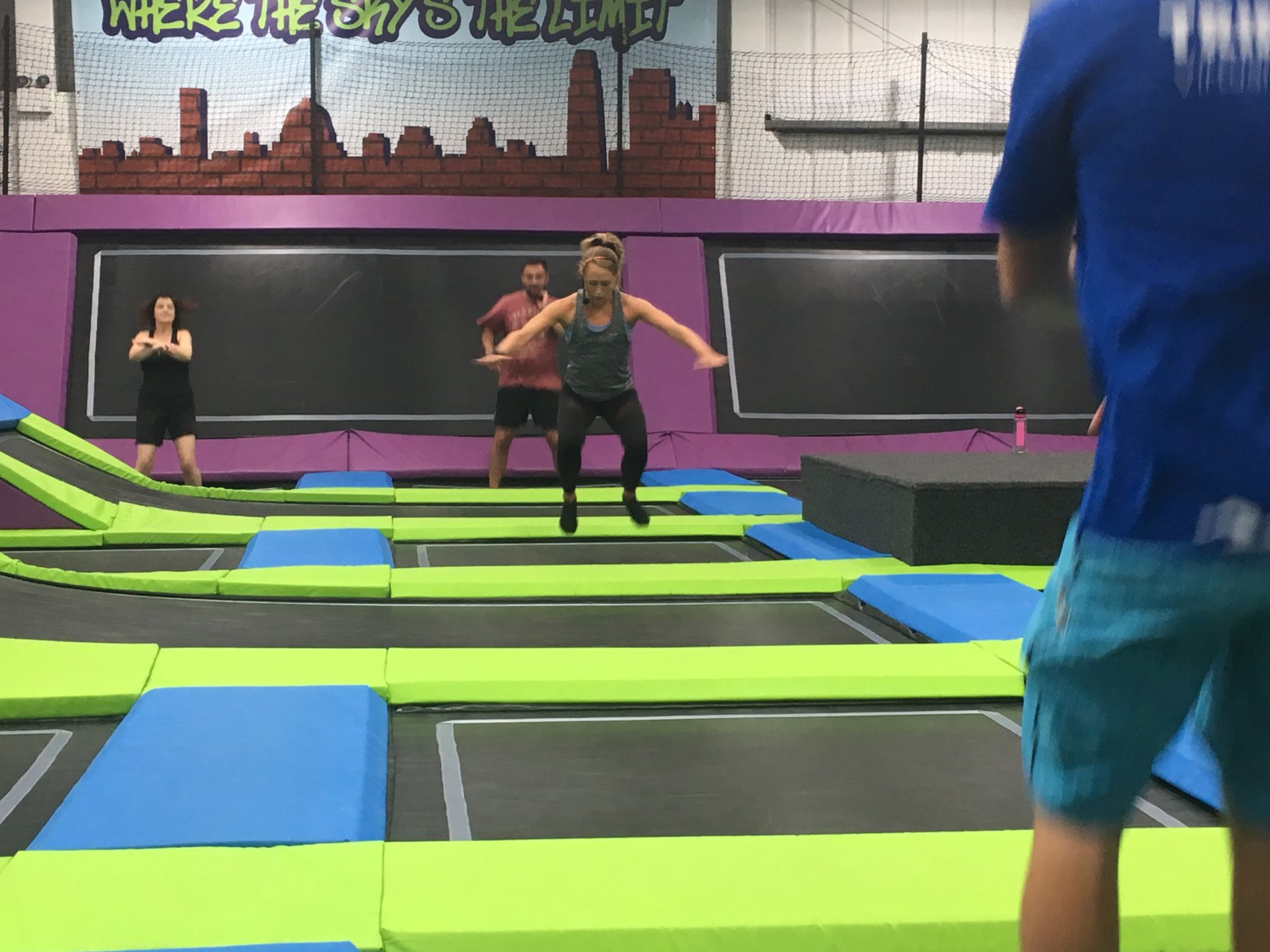 Getting some air at bounce strong